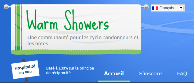 Couch surfing cycliste avec Warm Showers